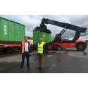 Norsk Gjenvinning og Tekniske verken benytter Green Cargos miljøvennlige transporter på tog