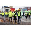 Willhem tog första spadtaget för nya hyresrätter i Jönköping