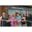 X-Factor star Melanie Masson and local eye cancer survivor open new Vision Express Cheshunt store