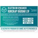 Kunskap räddar liv! Välkommen till en afton om gynekologisk cancer - Malmö 18 april