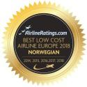 AirlineRatings.com: Norwegian on Eurooan paras halpalentoyhtiö