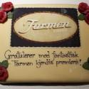 Cake celebrating The Farm Celebrity version premiere