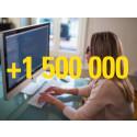 Rekordnotering – .se passerar 1 500 000 aktiva domäner