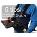 Fem sätt att sänka lagerkostnader med mobila Tablet PC