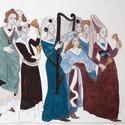 Medeltidsmuseet väggmålning x1