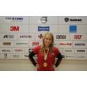 Frida Gustafsson från Enskede är Sveriges bästa unga fordonslackerare