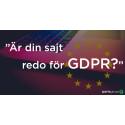 Är din sajt redo för GDPR?