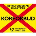 Många företagsbilar med körförbud