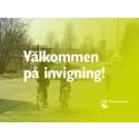 Välkommen på invigning av ny gång- och cykelväg