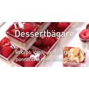 Vanilj- och lakritspannacotta i Amuse-Bouche Square dessertbägare