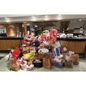 Scandic samlade in 3150 julklappar till behövande barn