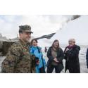 Medlemmer fra Utenriks- og forsvarskomiteen på Stortinget besøkte øvelse Cold Response