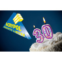 Acrypol Products celebrate their 30th year in business
