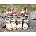 Samarbete ger ny produktgrupp till Målerås Läder -Trätofflor som matchar läderväskor