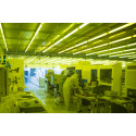 A dust-free clean room is required to work with quantum devices