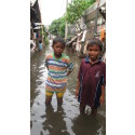 Children bear the brunt of the impact in Jakarta floods
