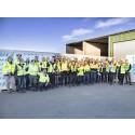 Finja Betongs nya grundfabrik invigs
