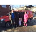 Presto hjälper Sofias Änglar att brandsäkra hos olycksdrabbad familj