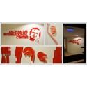 Receptionsskylt / väggskylt i transparent akryl till Olof Palmes Internationella Center