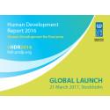 Den globala lanseringen av Human Development Report sker i Sverige den 21 mars