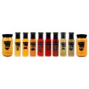 Påfyllning i Sauces Shops kryddiga sortiment