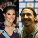 Kronprinsessan Victoria och Zlatan Ibrahimovic