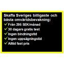 Omvärldsbevakning från 295 SEK/månad – Ingen bindningstid eller uppsägningstid