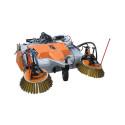 Uppsamlande modell med sidoborstar för effektiv rengöring