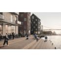 Riksbyggen, Robert Dicksons stiftelse och Hemsö utvecklar hållbar stadsdel vid Carnegie Brygga i Göteborg