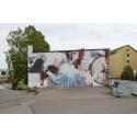 Helen Burin muraali valmistui Kotkassa