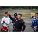 Alexander Westlund är delaktig i både byggandet av bana och i RallyX-lites