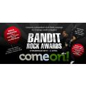 Spelbolaget ComeOn! presenterar årets upplaga av Bandit Rock Awards