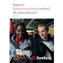 Bältesanvändning ombord på expressbussen 2017