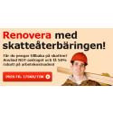 ServiceFinders Nyhetsbrev: Renovera med skatteåterbäringen!