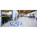 Volkswagen Transportbilars märkeschef på besök när Berco invigde ny produktionslina