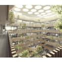Biomedicum interiör med ljusgård