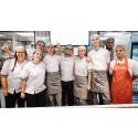 Hanna Cajfeldt restaurangchef MAX Hötorget, till vänster i bild, med personal