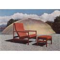 Modell: Gerhard Bergs hvilestol med fotskammel