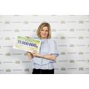 Rekordsumma för Operation Smile - elva miljoner kronor från PostkodLotteriet