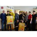 Kycklingsoppa och oväntat besök: Falkenbergs kommun hyllades på Boken