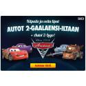 SUPER-ALE! Jopa 70% | AUTOT 2/CARS 2 on täällä – voita liput gaalaensi-iltaan! | Pohjolan suurin CARS-tuotteissa!