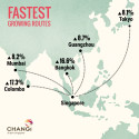 #Changi2015 - Fastest Growing Routes