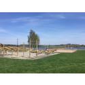 Invigning av badet vid Frösjö strand i centrala Gnesta