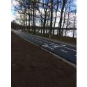 Växjö kommuns första snabbcykelväg.