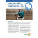 A safer start in life: handwashing and child health in Kisumu, Kenya