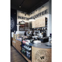 Wayne´s Coffee kafé koncept