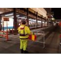 Upplysta vägarbetare minskar olyckor