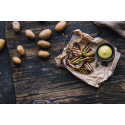 Recept på  grillad nypotatis med majonnäs på dragon och libbsticka