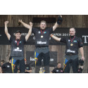 Trippel svenskt på prispallen - Calle Svadling ny nordisk mästare i Timbersports