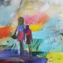 Vernissage LAUT UND LEISE mit expressiver Kunst von Renate Hamer